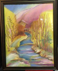 """Картина Мончик С.Е. """"Листвянка. Ручей в Крестовой пади"""""""