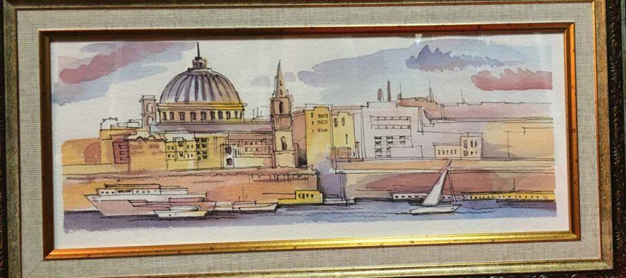 """Картина """"Городской пейзаж на Мальте"""""""